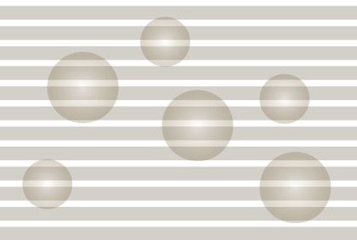 Bubbles in gray stripes