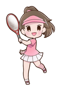 女子テニスプレイヤー01_B