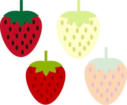 Various strawberries