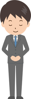 Male | salaried worker | suit | bow