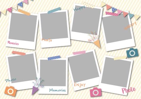 Pop photo frames