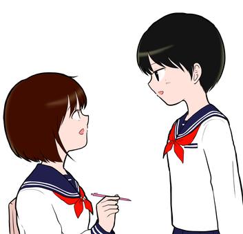 Chatting girl