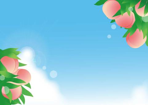 Peach and blue sky background
