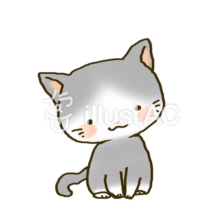 柄のある子猫イラスト No 875236無料イラストならイラストac