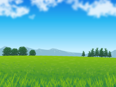 Fresh sky and grassy background 02