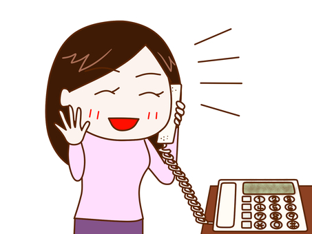 Women who talk happily on the phone