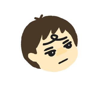 Grumpy boy left