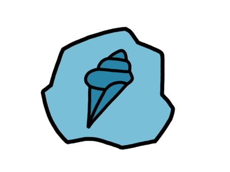 化石蝸牛殼藍色