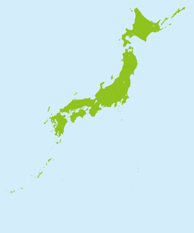 Japan map (color / regular position)