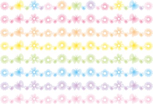 Glittering flower line