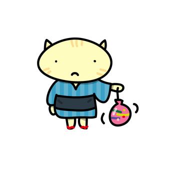 Water yo and cat