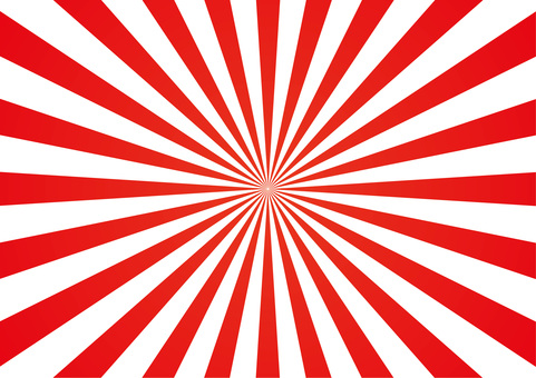 Concentration line <center / red and white>