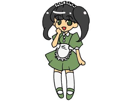 Green maid 01