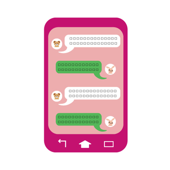 Smartphone chat screen