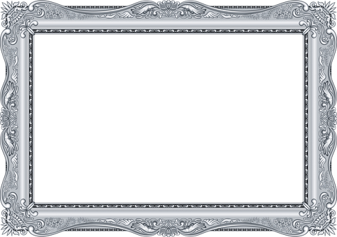 Picture frame luxury silver mat