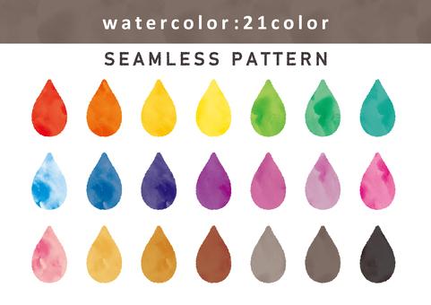 Watercolor style seamless pattern set 01