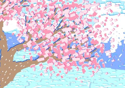 벚꽃 잘라 그림