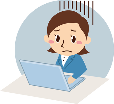 Company employee female overtime work