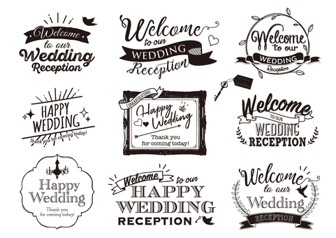 Wedding logo collection