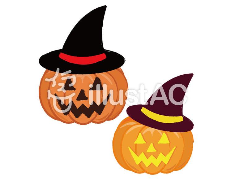 リクエスト手書き風かぼちゃオバケ 帽子イラスト No 89724無料