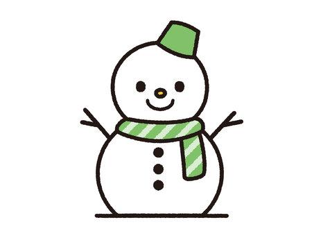 Snowman (Green)