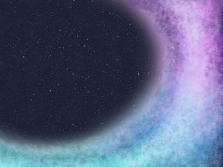 Night sky frame background illustration 2