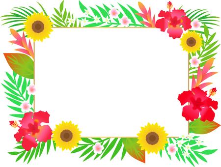 Tropical Flower Frame