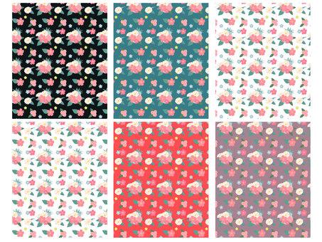 Floral pattern swatch
