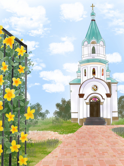 Scenery with church