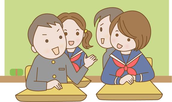 學生在課堂上