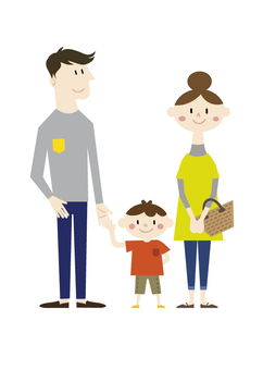 Dad, mommy and boy