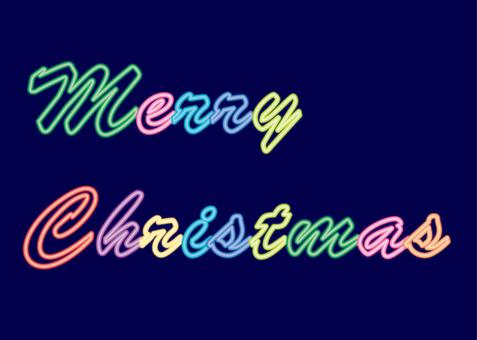 Christmas neon characters
