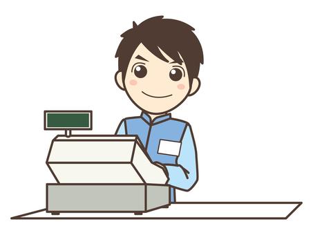 A020_ cashier man
