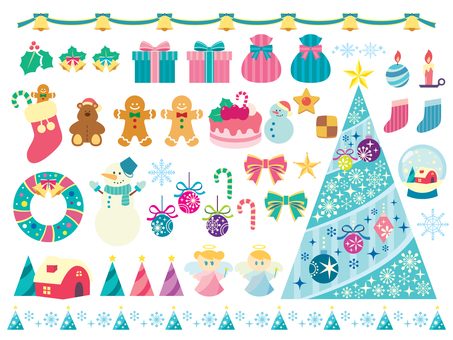 Christmas illustration material (2)
