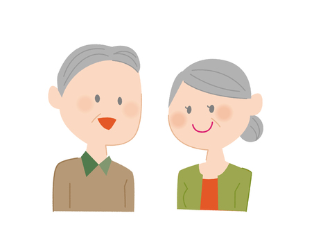 Elderly men and women