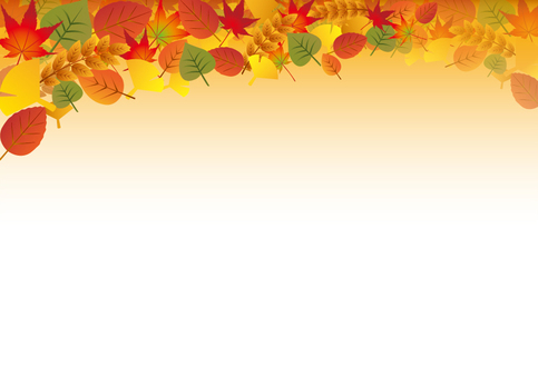 낙엽이 가득 가을 프레임