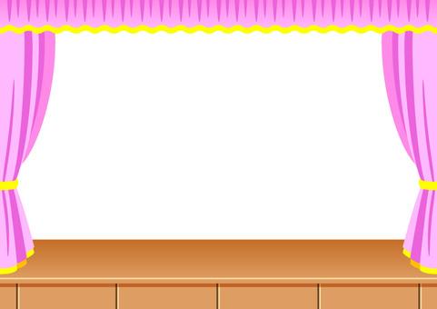 Pink banner frame