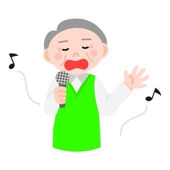 Singing senior male