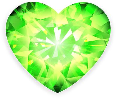 ai Heart cut green
