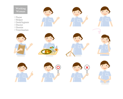 Working lady 3 (upper body variation)