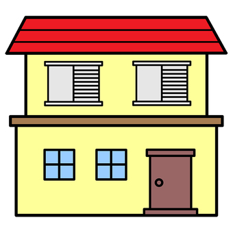 Illustration of a red roof house