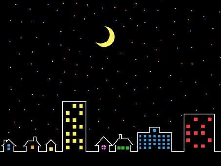 Night sky crescent