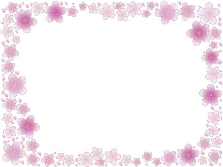 Cherry Blossom Snow Storm Frame