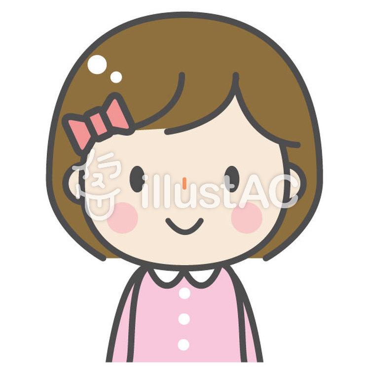 かわいい子ども 女の子イラスト No 1084740無料イラストなら