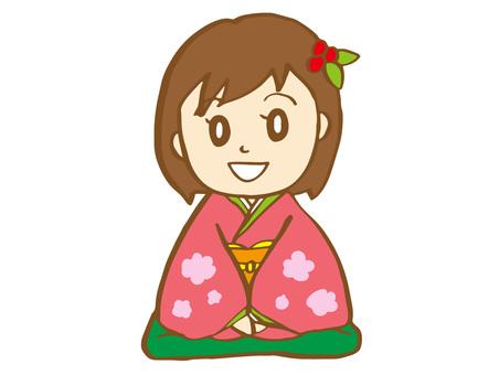 Girl wearing kimono 2