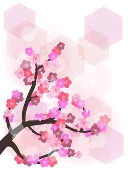 Plum wallpaper · Japanese style water color background