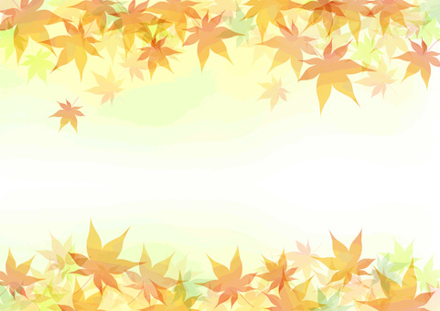 Autumn leaves frame side 3
