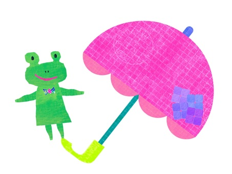 Umbrellas and frogs