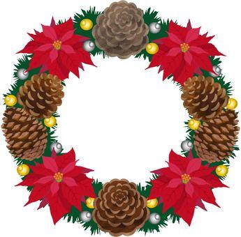 ポインセチア クリスマスリース