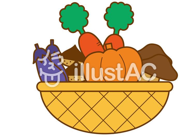 秋野菜4cのイラスト